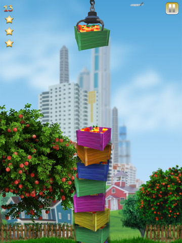 Apple Tower Fall Down Build Game