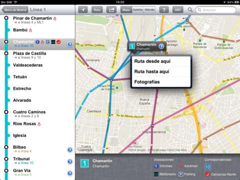AMT-Metro Madrid para iPad