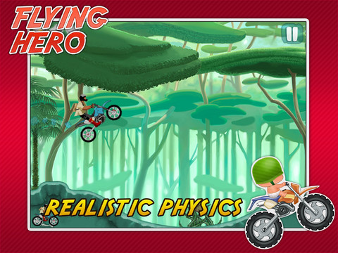 Real Flying Racing Rider Hero