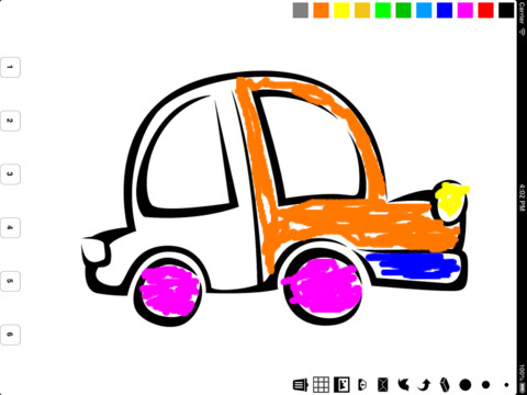Vehicle Coloring Book for Children
