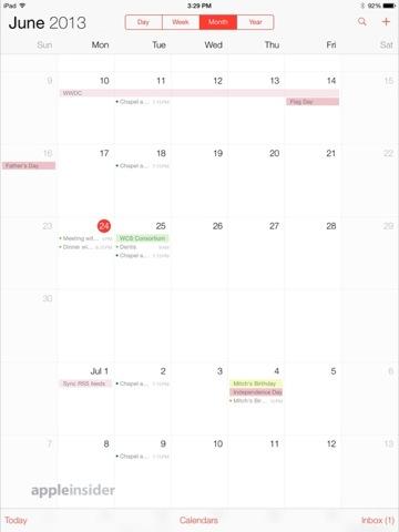 iOS 7 - Calendario
