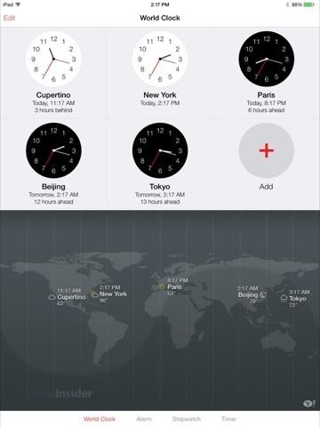 iOS 7 - Reloj