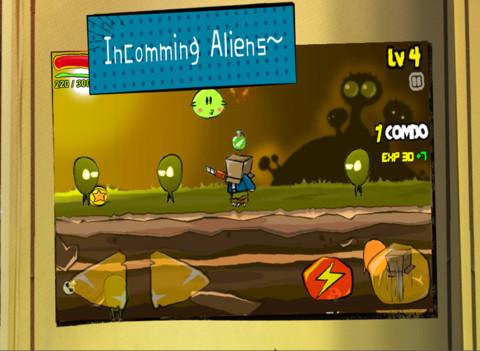 BoxMan VS Aliens