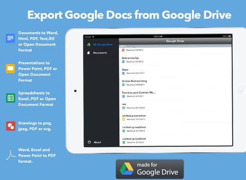 GDrive Exporter for Google Drive