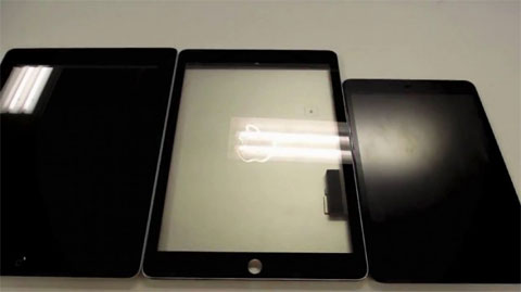 Supuesto cristal del iPad 5