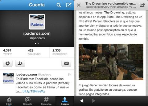 iPaderos en Twitter