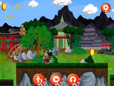 Brave Samurai Warrior escape from Ninja Brothers Village