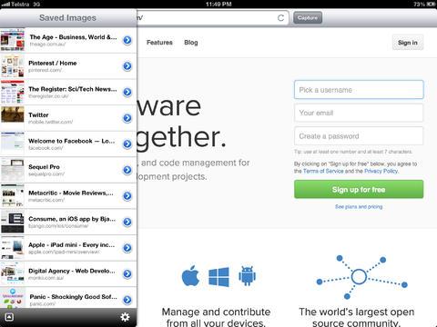 Barry - Webpage screenshot