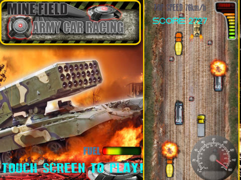 Mine Field Army Car Racing Pro