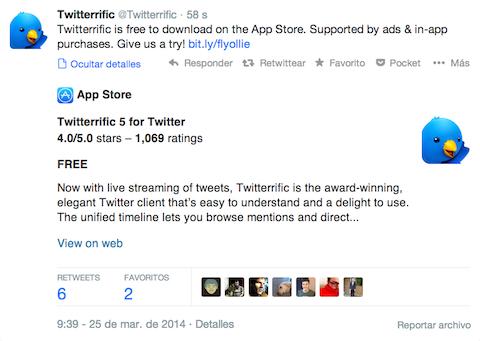 Twitterrific 5 Twitter