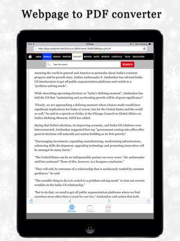 Web2-PDF converter