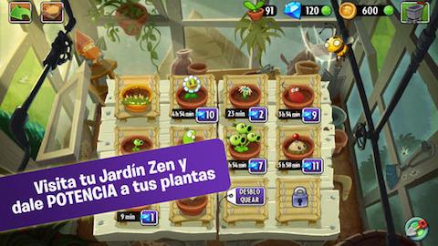 Actualizaciones de la semana 30 marzo 2014 en ipaderos for Jardin zen plantas vs zombies