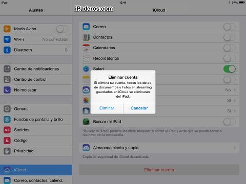 Bug ios 7 buscar mi iPad 2