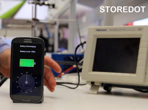 Store Dot baterías