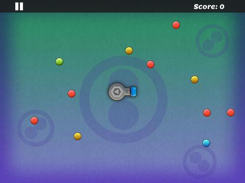 jugar con bolas de color azul