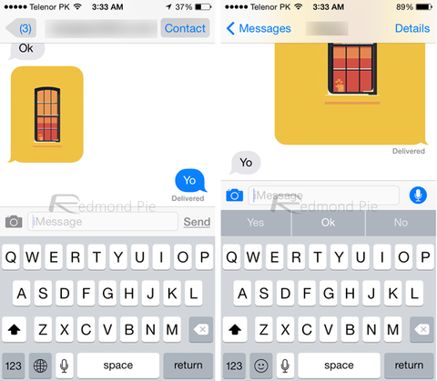 Mensajes iOS 8 vs iOS 7_result