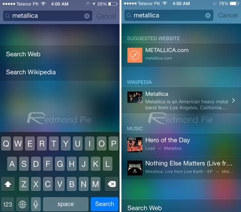 Spotlight iOS 8 vs iOS 7_result