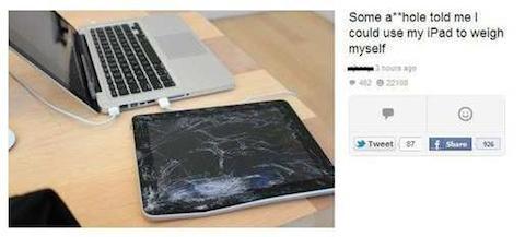 iPad absurdo 7 báscula