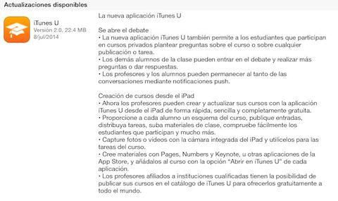 iTunes U update