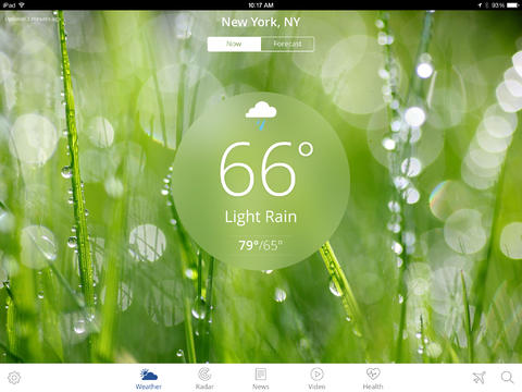 The Weather Channel App for iPad