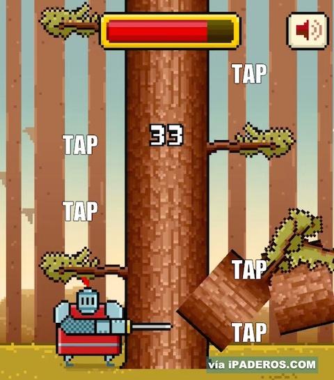 Timberman 9 salto