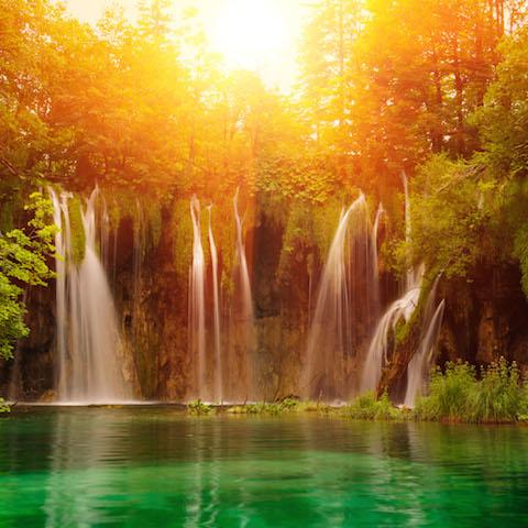 Wallpaper iPad Plitvice National Park Waterfalls Croatia iPad 480