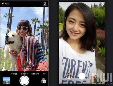 cámara MIUI 6 vs iOS 7