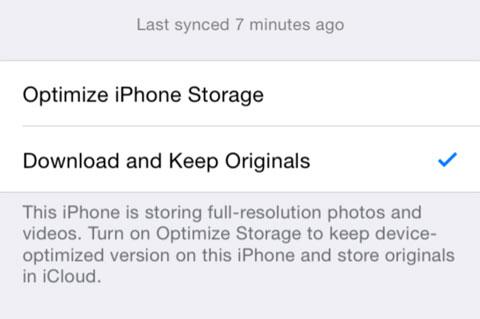 Opciones para iCloud Photo Drive