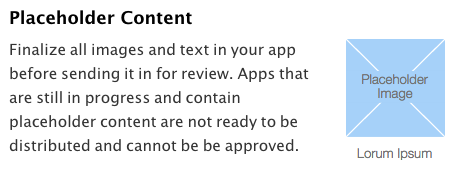 rechazo de app