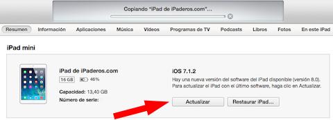 Cómo instalar iOS 8 actualizar