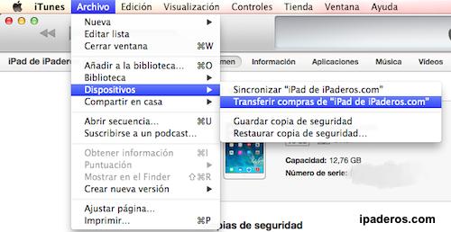 Cómo instalar iOS 8 transferir compras