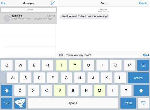 TextExpander 3 + custom keyboard