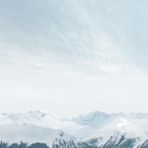 Wallpaper iOS8 Montaña nevada iPad 480