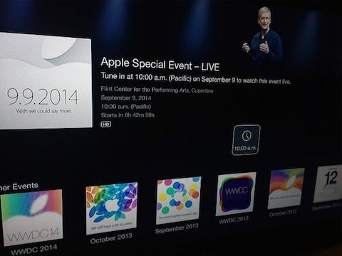 apple tv evento