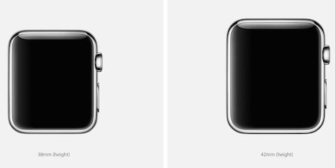 apple watch tamaño pantalla