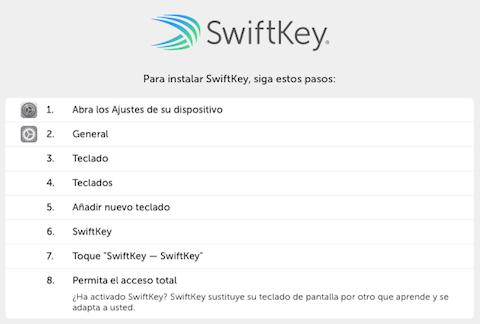 swiftkey permisos