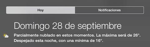 widget tiempo iOS 8