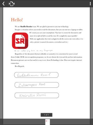 Shuffle Scan PDF Simple Reader Pro