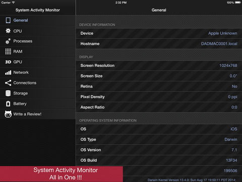 System Activity Monitor - All in One