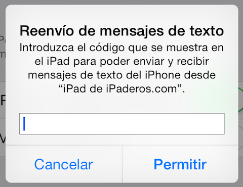 código sms
