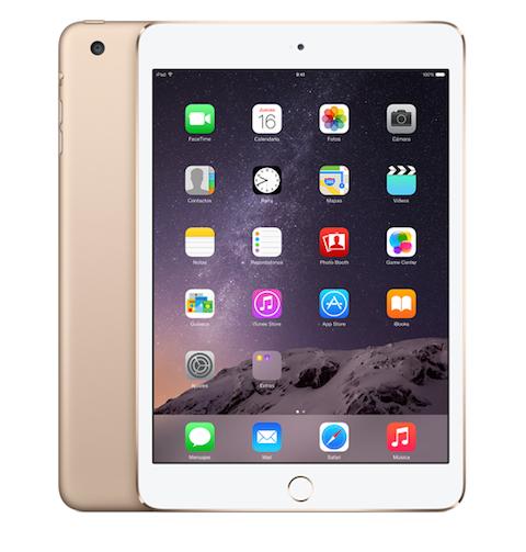 iPad mini 3 dorado
