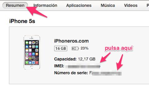 Cómo saber el número de serie de un iPhone