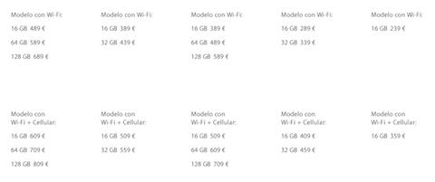 precios iPad españa