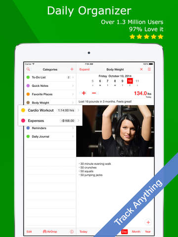 Lumen Trails Daily Organizer with Journal, Log and Diary
