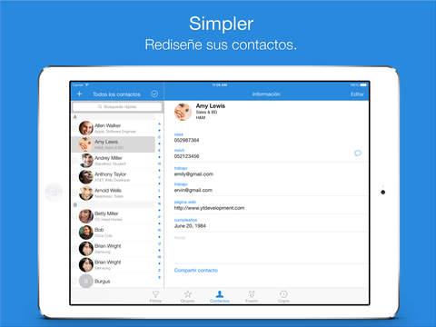 Simpler Contacts Pro – Gestor de contactos inteligente