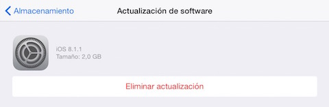 iPad Air - borrar descarga