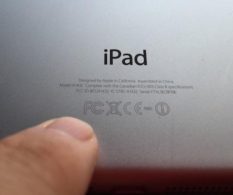 marcado FCC iPad