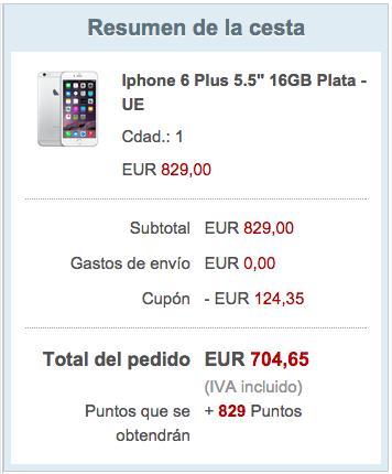 precio iPhone 6 plus descuento