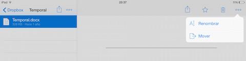 Dropbox fichero