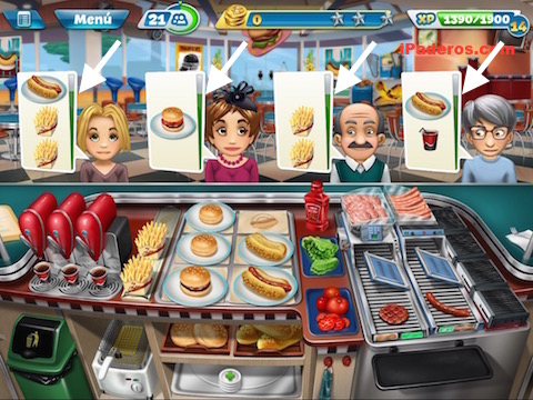 cooking fever tips